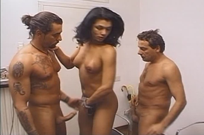 Two Dudes Playing With Trans Fernanda Barros