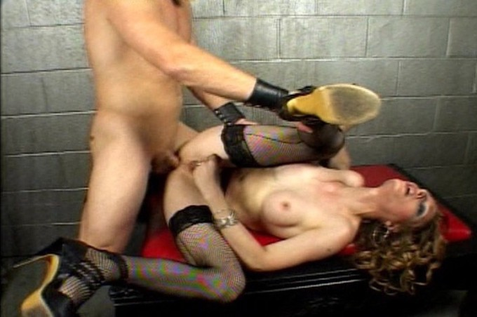 Transsexual Sara Sin Gives As Good As She Gets In The Dungeon