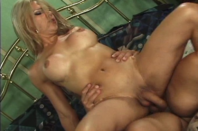 Blonde Tranny Sabrina Fucks Gets Fucked By Black Cock