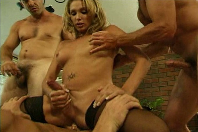 Transvestite Beauty Claire Tracy Fucks Three Hot Men At Once