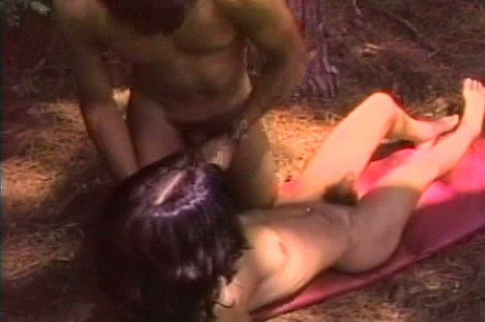 Horny Shemale China Blak Takes An Anal Pounding In The Woods
