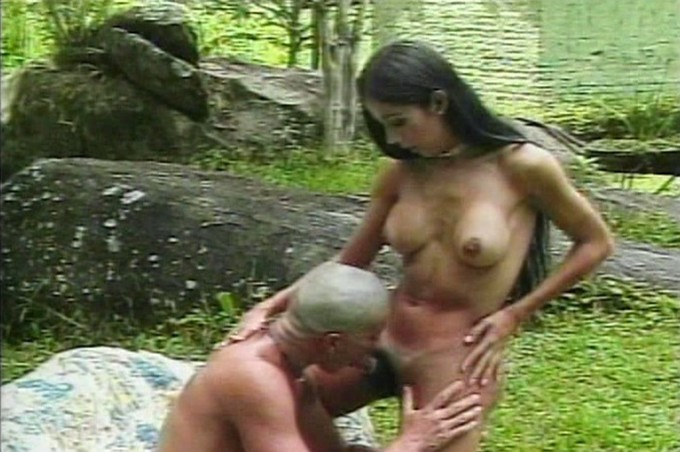 Tranny Erica And Marlo Have A Little Fun Outdoors