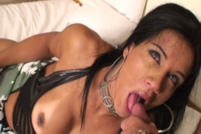 Hot Trans Aline Ganzarolli Loves To Suck A Big Cock