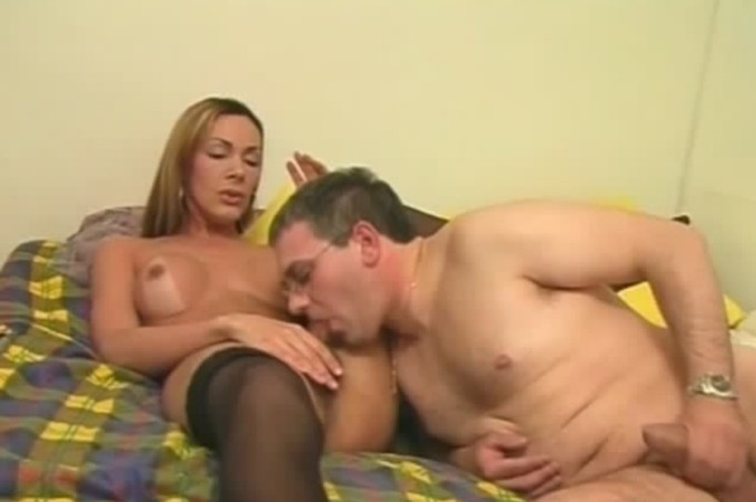 Mature Male Getting A Tranny To Suck Cock